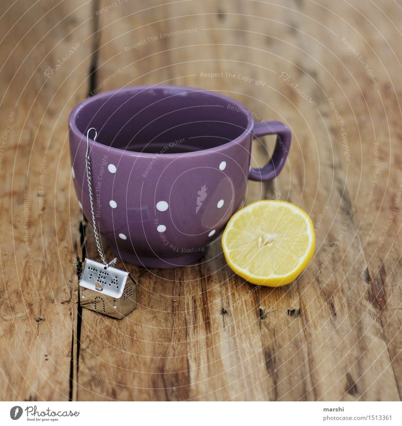 Get well soon Food Beverage Drinking Hot drink Coffee Latte macchiato Tea Cup Moody Lemon Teapot Thirst Healing Wood Colour photo Interior shot Detail Day