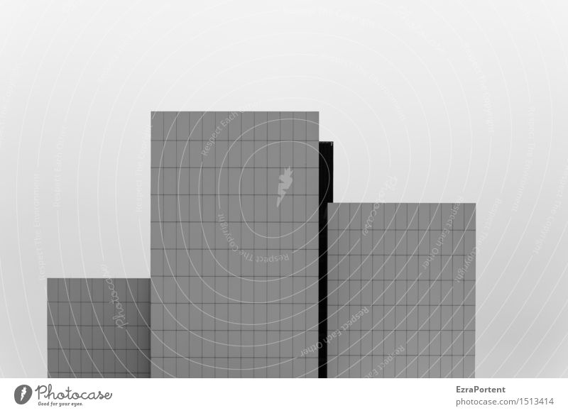 Sky House (Residential Structure) Dark Wall (building) Architecture Building Wall (barrier) Small Line Facade Design High-rise Esthetic Stand Large Stripe