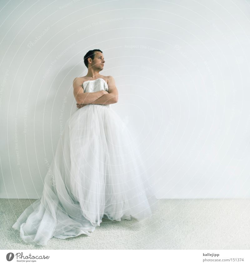 Man White Religion and faith Fashion Wait Church Clothing Dress Wrinkles Bride Textiles Disappointment Insulted Tulle