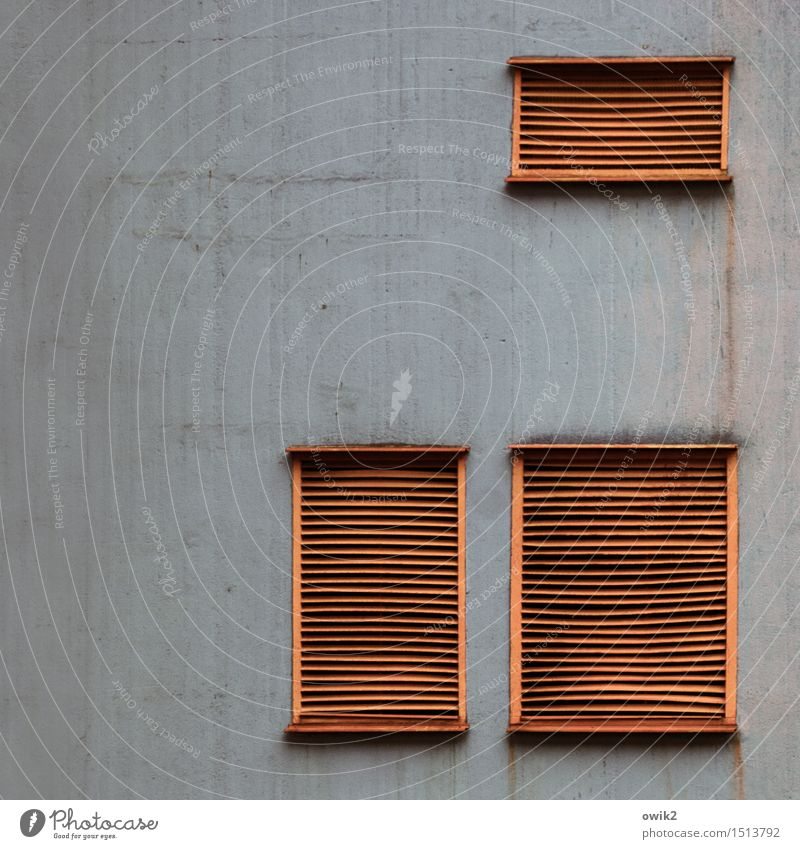Wall (building) Building Wall (barrier) Gray Above Facade Together Metal Orange Concrete Plastic Factory Industrial plant Unclear Disk Ventilation window