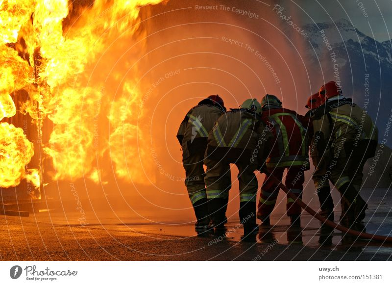 firefighter Blaze Fire department Flame Disaster Practice Erase Warmth Dangerous Public service Threat