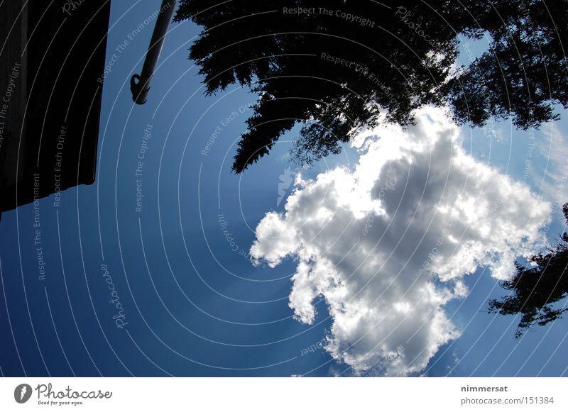 shadow hole Shadow Sky Clouds Sun Blue Black Nature