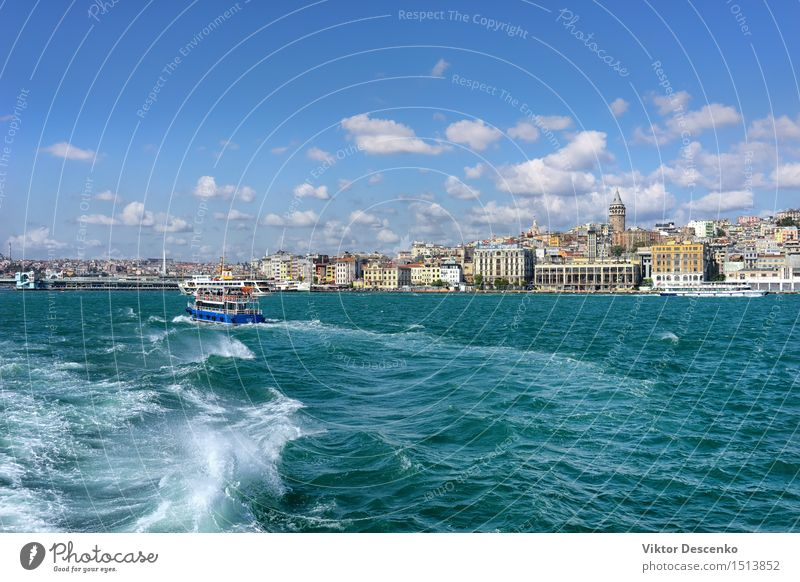 View from the ship in the Golden Horn of the Old City Sky Vacation & Travel Blue Beautiful Summer Ocean Landscape House (Residential Structure) Architecture