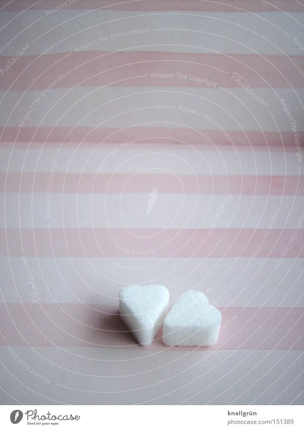 White Love Heart Pink Stripe Obscure Candy Striped