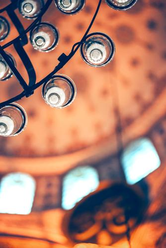 Turkish Mosque Detail Decoration Culture Sky Building Architecture New Religion and faith the Aegean Asia cami camii Carpet ceiling Istanbul cupola dome East