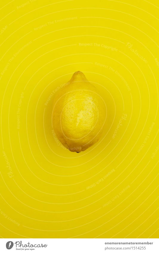 Jammy lemon on bright yellow Art Work of art Esthetic Lemon Lemon yellow Lemon juice Lemon tree Lemon peel Citron ice cream Yellow Crazy Sour Funny Eye-catcher