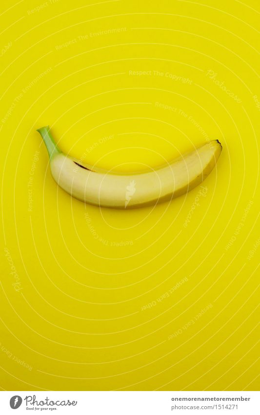 Colour Healthy Eating Yellow Art Fruit Design Esthetic Crazy Work of art Gaudy Fashioned Banana Warped Banana clip