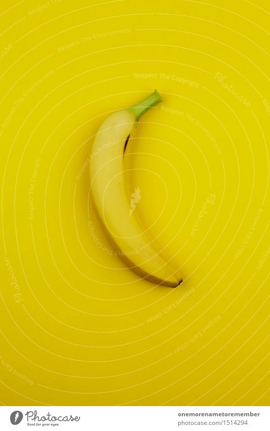 Jammy Banana to Yellow Art Work of art Esthetic Fruit Warped Gaudy Multicoloured Vitamin-rich Tropical fruits Appetite Snack Design Fashioned Colour photo
