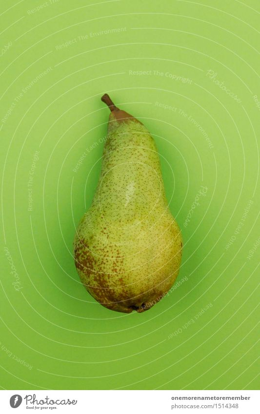 Jammy pear on green Art Work of art Esthetic Pear Pear stalk Green Grass green Fruit Delicious Healthy Eating Organic produce Design Fashioned Innovative