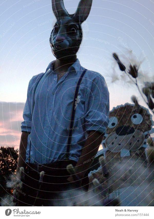 Man Friendship Field Mask Portrait photograph Dusk Fantasy literature Literature