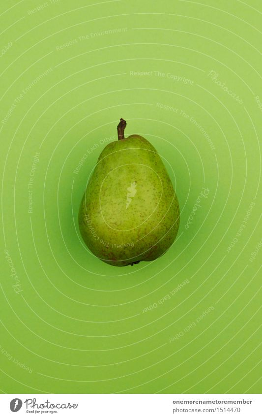 Jammy pear on green Art Work of art Esthetic Pear Electric bulb Pear stalk Delicious Appetite Healthy Healthy Eating Green Surface Organic produce Design