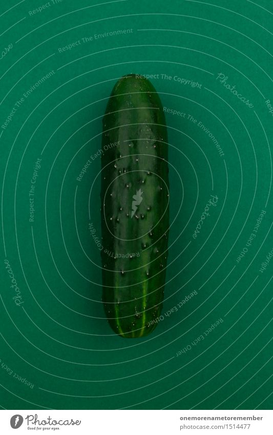 Jammy cucumber on green Art Work of art Adventure Esthetic Cucumber Slices of cucumber Green Green undertone Gaudy Healthy Eating Colour Dildo Colour photo
