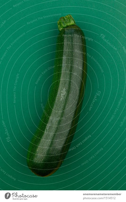 Jammy courgette on dark green Art Work of art Esthetic Zucchini Delicious Vegetable Healthy Healthy Eating Organic produce Food Harvest Appetite Design
