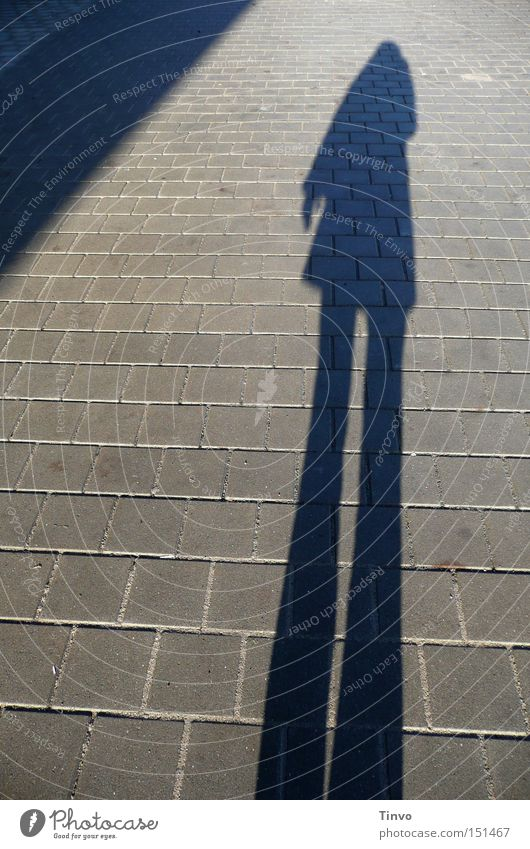 ghost Loneliness Triangle Sidewalk Human being Light Shadow Silhouette Autumn Woman Ghosts & Spectres  human shadow late afternoon
