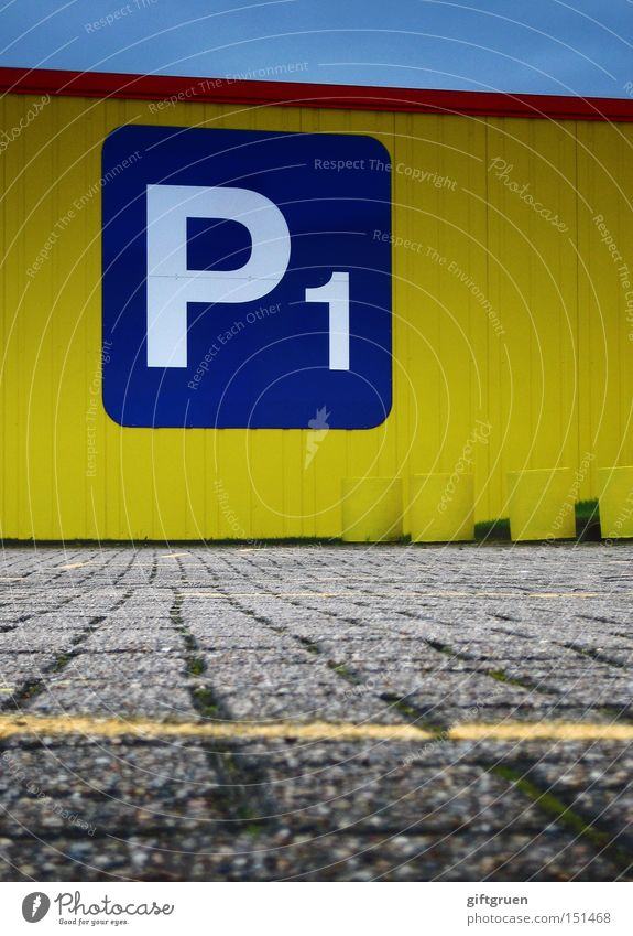 Yellow Street Empty Characters Letters (alphabet) Digits and numbers Traffic infrastructure Typography Parking lot Selection Inscription Ground markings