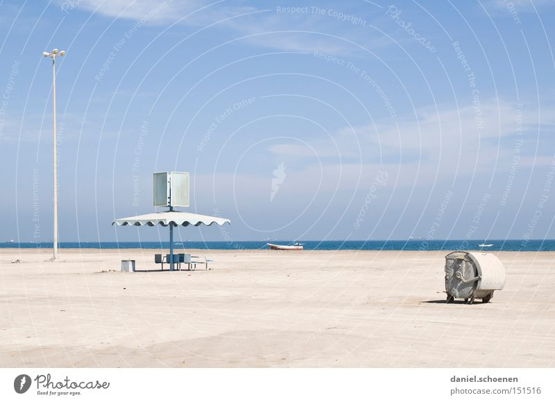 Water Sky White Ocean Blue Beach Vacation & Travel Coast Horizon Travel photography Derelict Surrealism
