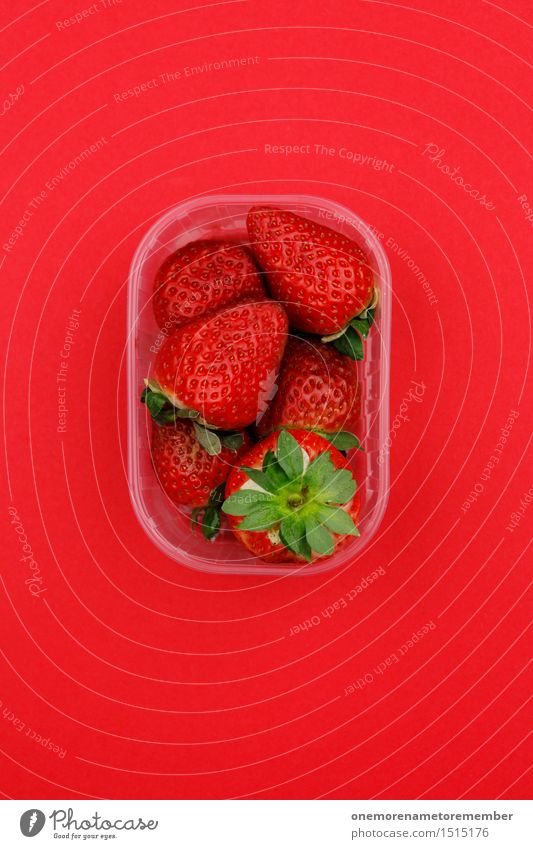 Jammy strawberries on red Art Work of art Esthetic Strawberry Red Bowl Multiple Many Fashioned Sell Offer Design Delicious Gaudy Multicoloured Colour photo