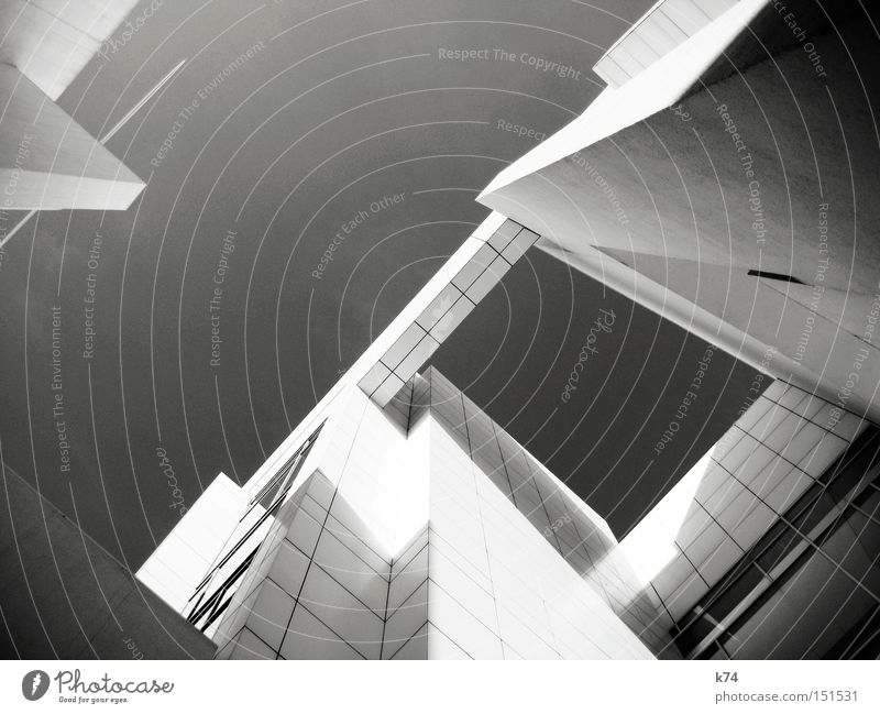 Cold Gray Architecture Flying Modern Aviation New Future Manmade structures Geometry Futurism Black & white photo