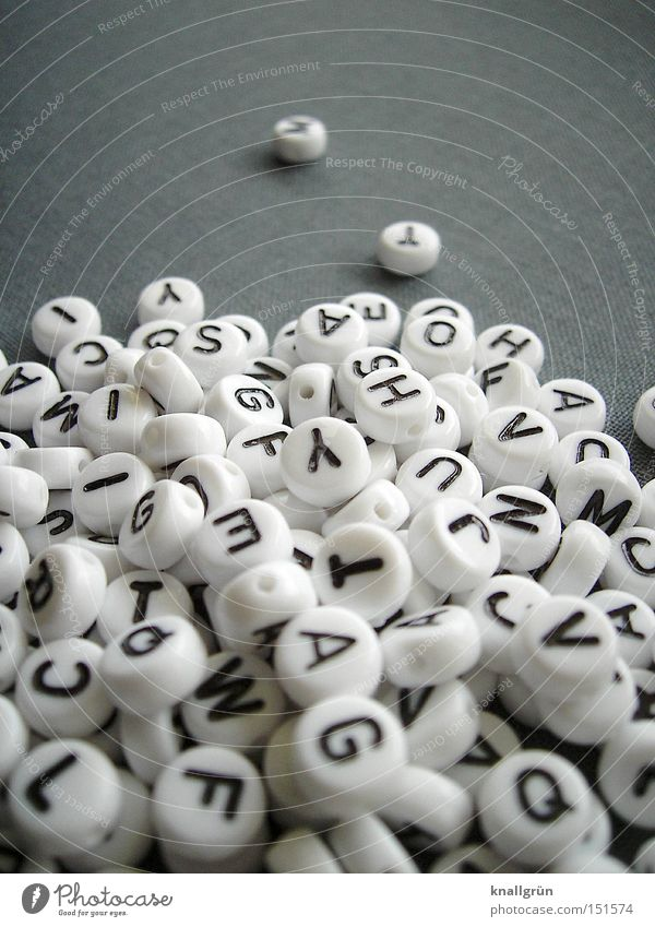 White Black Gray Communicate Characters Letters (alphabet) Pearl Word Language Heap Latin alphabet Capital letter