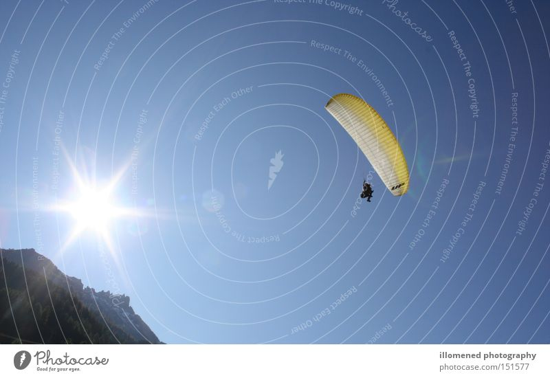With the sun behind you Paragliding Glide Sports Flying Extreme sports Playing Stubaital paramount gliding new pen Aviation eleven 11 slope start