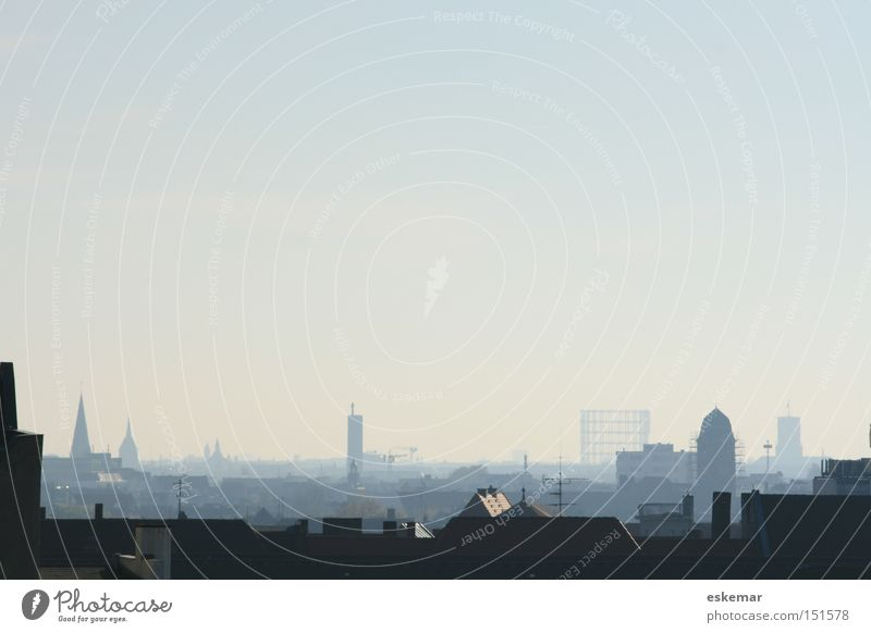 Berlin, Berlin Skyline Town Architecture Germany Capital city Gasometer Schöneberg Roof Silhouette Morning Dawn Above House (Residential Structure)