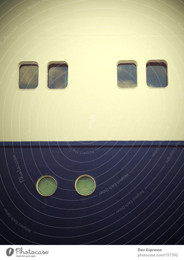 White Blue Calm Window Watercraft Navigation Porthole