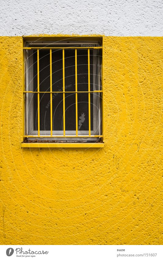 White Loneliness House (Residential Structure) Window Yellow Wall (building) Building Wall (barrier) Facade Work and employment Closed Protection Safety Watchfulness Plaster Divide