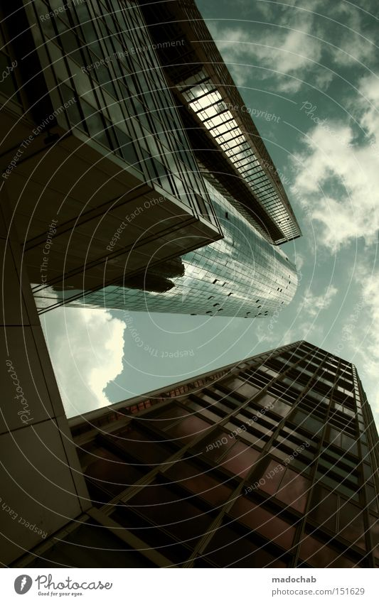 MASSIVMASSIV - collapsing new buildings Financial Industry Sky Town High-rise Building Architecture Self-confident Success Might Pride High spirits Business