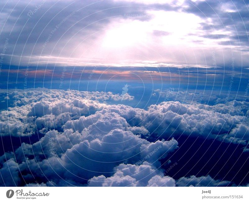 Beautiful Sky Sun Clouds Moody Flying Aviation Africa