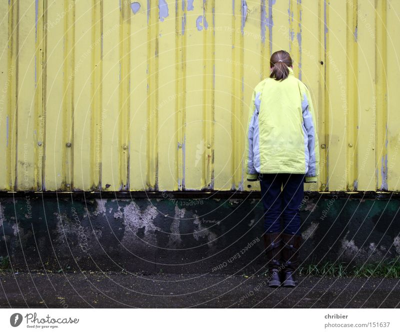 Loneliness Yellow Colour Wall (building) Fashion Industry Grief Gloomy Derelict Jacket Hide Distress Tin Varnish Camouflage Flake off