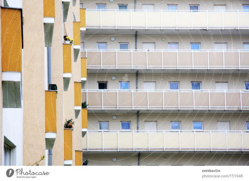 House (Residential Structure) Berlin Window Facade Living or residing Balcony Block Tenant Prefab construction Landlord New building Glazed facade Tower block