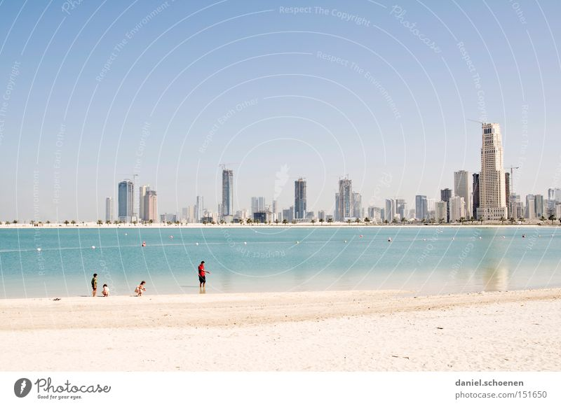 Metropolis 4 Dubai High-rise Tourism Vacation & Travel Travel photography Architecture Building Construction site Skyline Beach Sand Coast Panorama (View) boom