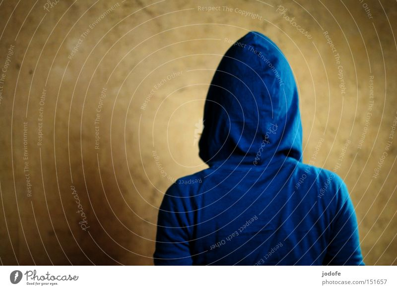 turned away. Colour photo Interior shot Studio shot Detail Copy Space left Upper body Rear view Looking away Human being Young woman Youth (Young adults) Woman