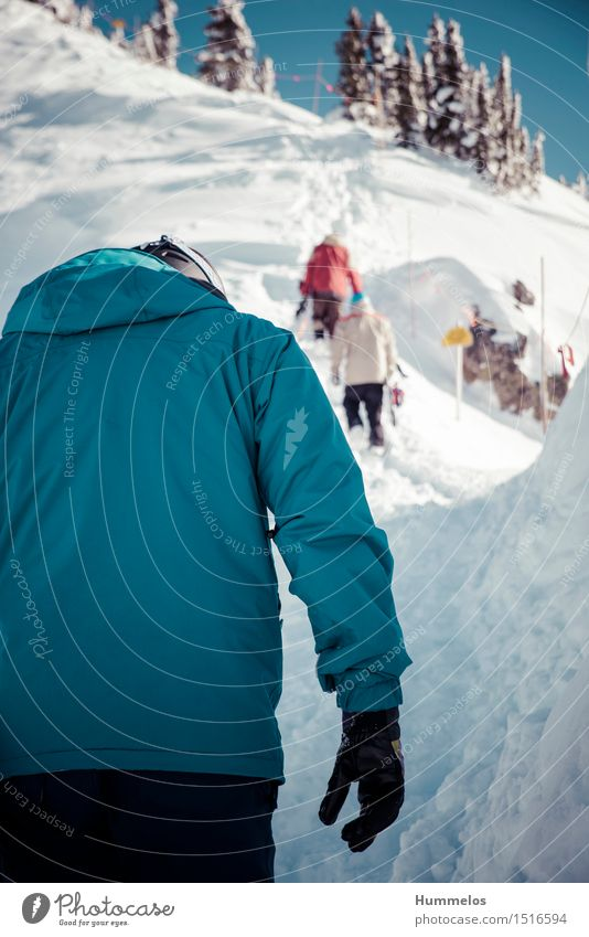 Ski tour in Revelstoke, Canada Joy Trip Winter Snow Winter vacation Mountain Sports Winter sports Sportsperson Snowboard backcountry Human being Masculine