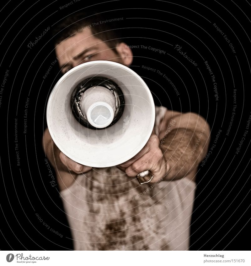White Party Music Dirty Communicate Concert Scream Loud Entertainment Musical instrument Megaphone Crash Clang Double bass Bang