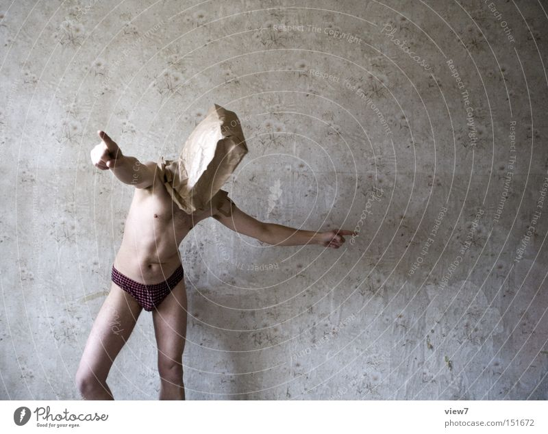 Human being Man Naked Funny Body Skin Arrangement Concentrate Wallpaper Trashy Transmission lines Paper bag Absurdity Superior Decide Installations