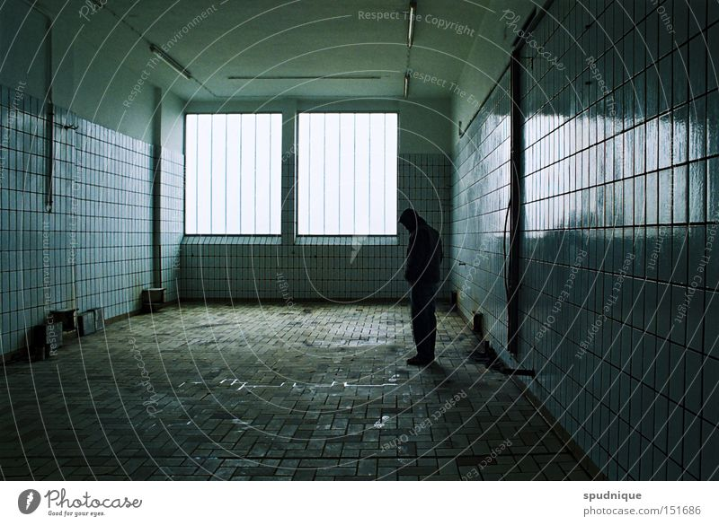 Blue Calm Loneliness Dark Sadness Room Empty Grief Factory Tile Derelict Distress Concern Feeble Blues