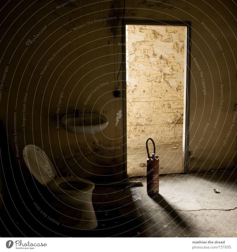 Beautiful Calm Loneliness Dark Room Door Bathroom Transience Toilet Idyll Derelict Sink Extinguisher Digestive system