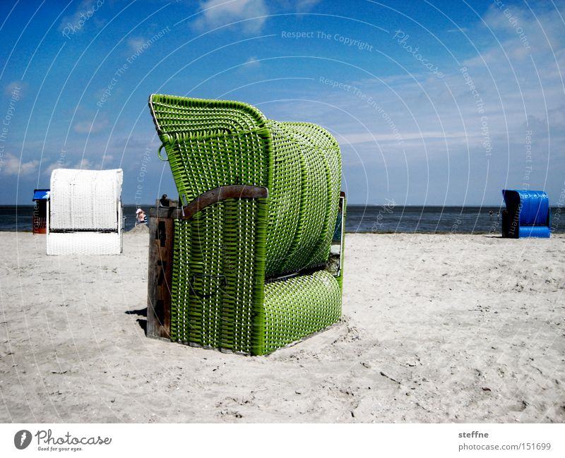 Christmas card Beach Beach chair Ocean Vacation & Travel Sand Relaxation North Sea Baltic Sea Loneliness Leisure and hobbies Summer