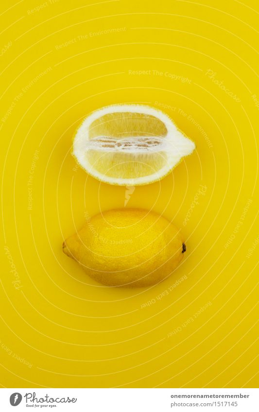 Yellow Funny Art 2 Esthetic Creativity Uniqueness Work of art Lemon Half Gaudy Sour Vitamin-rich Vitamin C Lemon yellow Lemon juice