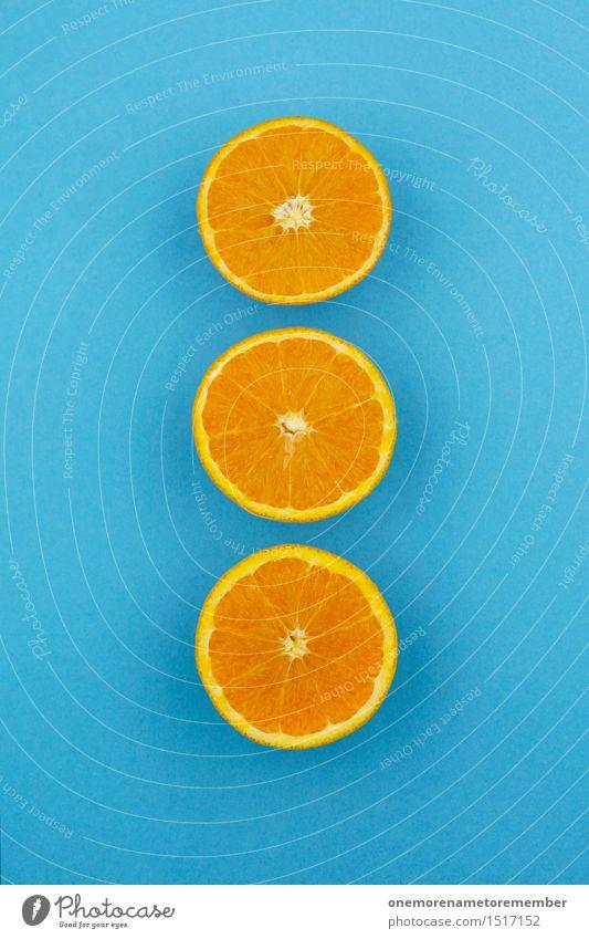 Blue Art Orange Esthetic 3 Division Row Work of art Symmetry Complementary colour Orange juice Orange peel Orange slice Orange tea