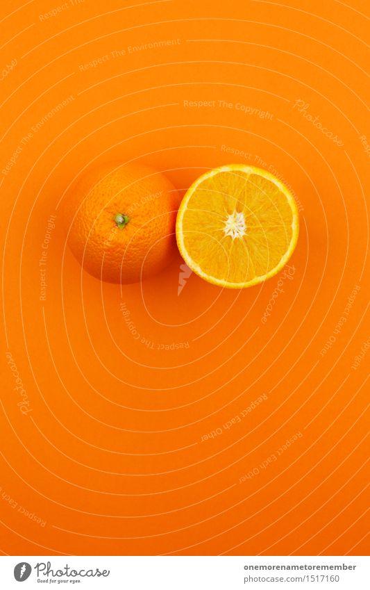 Jammy double orange on orange Art Work of art Esthetic Orange Orange juice Orangery Orange peel Orange slice Design Fashioned Crazy Gaudy Multicoloured