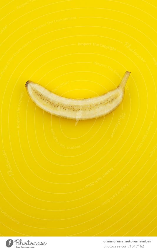Healthy Eating Yellow Food photograph Art Esthetic Creativity Idea Delicious Virgin forest Work of art Monkeys Snack Banana Warped Contents Yellowness