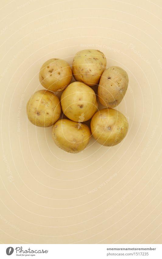 Jammy potato on beige Art Work of art Esthetic Potatoes Crisps Potato field Potato dish Potato harvest Healthy Eating Harvest Seasonal farm worker Beige 7