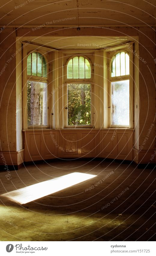 Loneliness House (Residential Structure) Window Time Room Living or residing Transience Derelict Nostalgia Villa Classical Old fashioned Vacancy Window frame Century