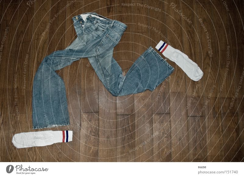Blue Wood Funny Fashion Brown Leisure and hobbies Walking Crazy Lifestyle Clothing Floor covering Ground Creativity Idea Jeans Running
