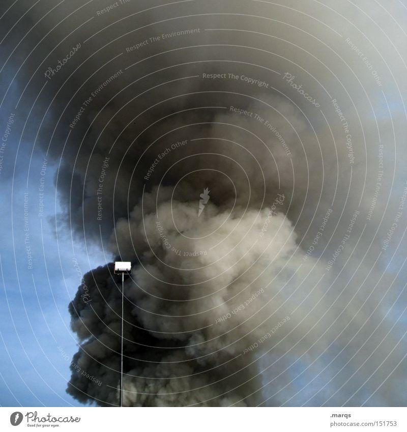 Raucherpause Ozone Alarm Smoke Blaze Fire Exhaust gas Odor Emergency Burn Sky Lantern Poison Unhealthy Disaster Climate change Environmental pollution Fear