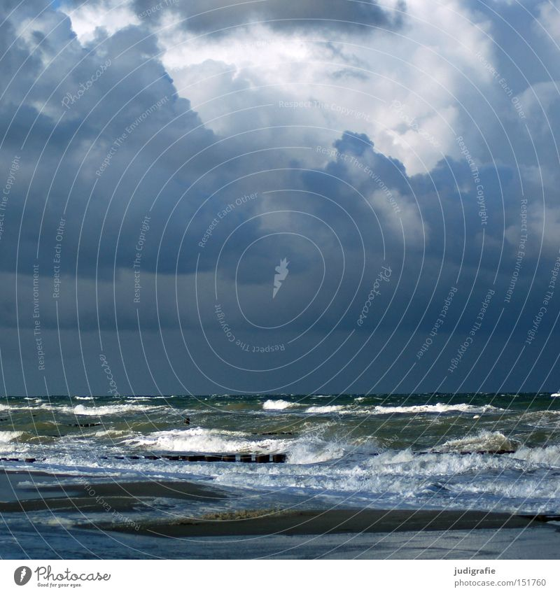 Nature Water Sky Ocean Winter Beach Clouds Cold Relaxation Autumn Lake Power Waves Coast Force Darss