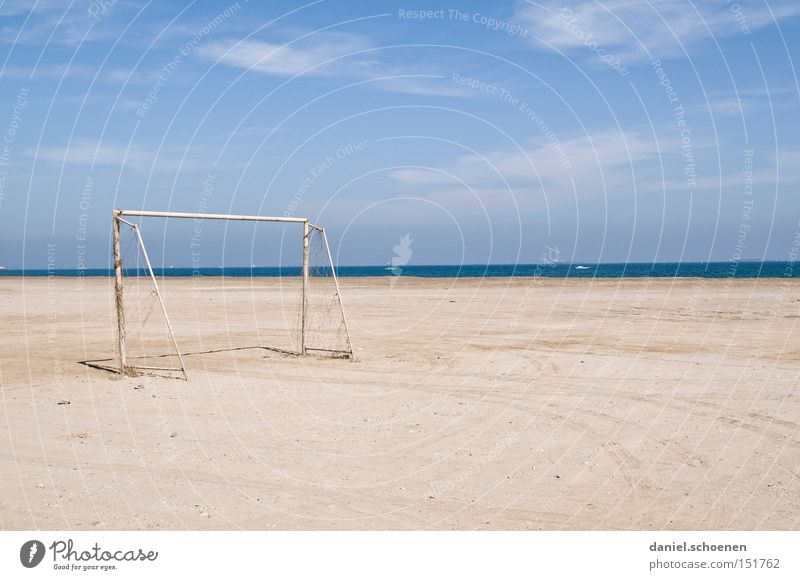 Water Sky White Ocean Blue Beach Vacation & Travel Clouds Soccer Coast Horizon Derelict Goal Surrealism