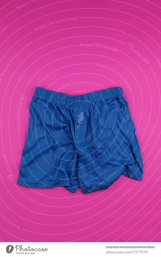 really masculine I Art Work of art Esthetic Pink Magenta Masculine Men's underpants Underwear Male preserve Blue Clothing Complementary colour Contrast